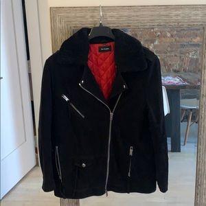 Black suede The Kooples jacket sz L